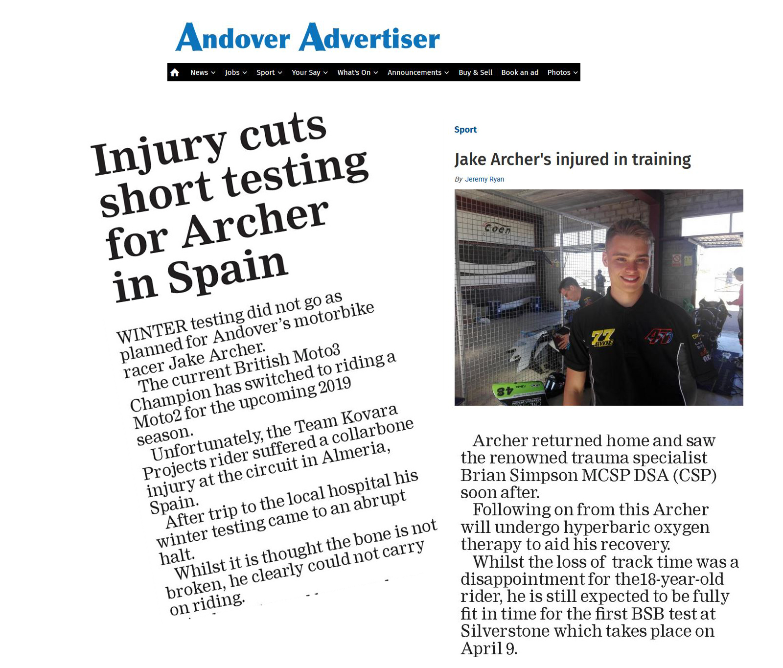 Andover Advertiser 22 March 2019