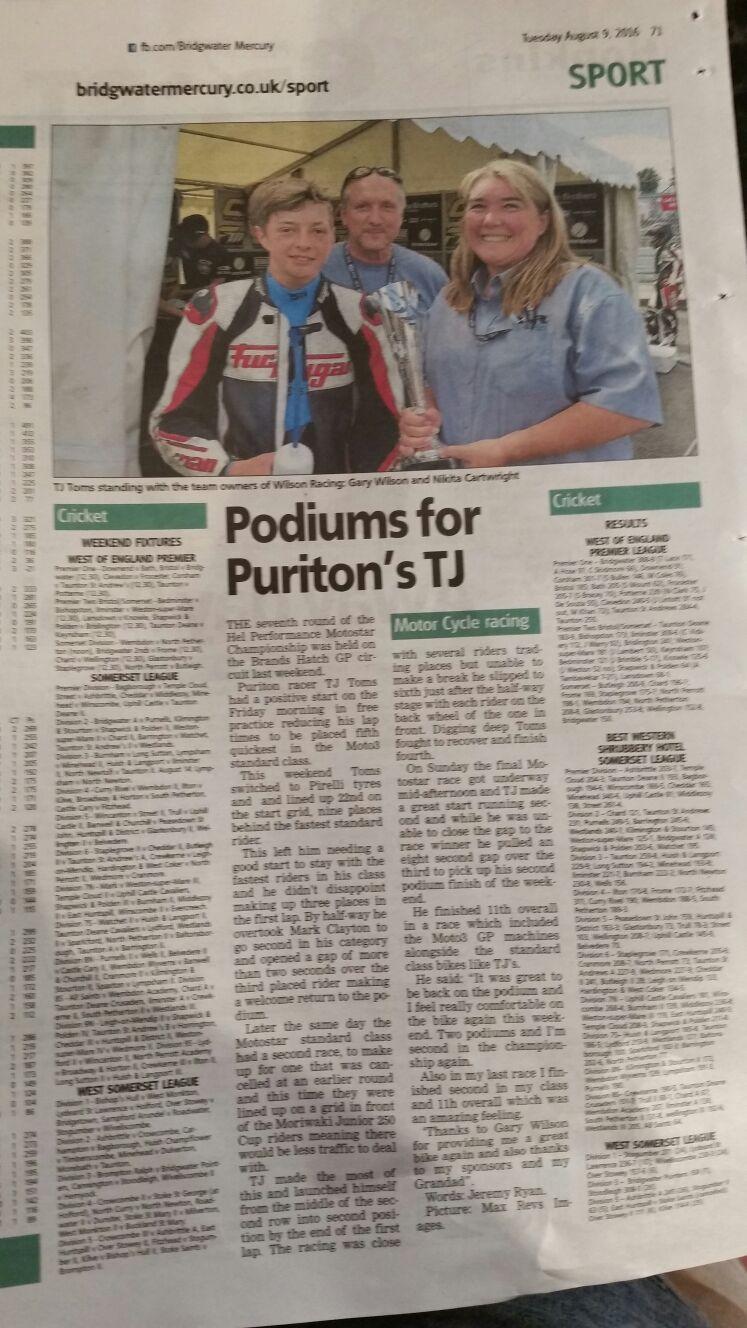 TJ Toms Motostar Brands Hatch GP August 2016
