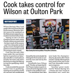 Wilson Racing Derbyshire Times 11 May 2017