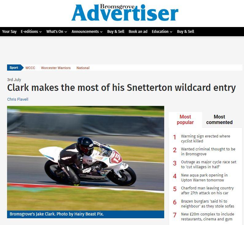 Jake Clark Motostar Snetterton 2017