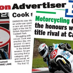 Swindon Advertiser and Bristol Post Max Cook Cadwell Park 2017