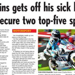 Charlie Atkins Motostar Cadwell Park Hull Daily Mail