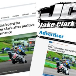 Motostar Jake Clark Thruxton 2017 press articles