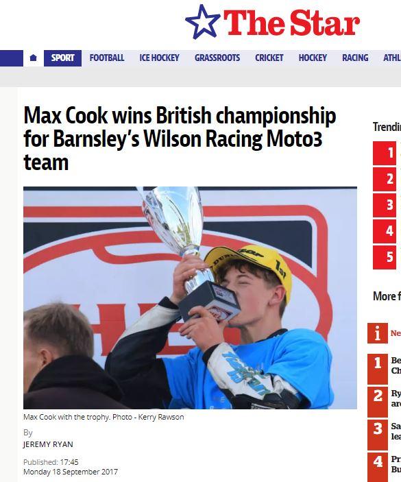 20170918 Sheffield Star Max Cook Motostar Standard 2017 Champion Kerry Rawson