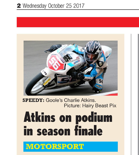 Charlie Atkins BHGP Hull Daily Mail October 2017