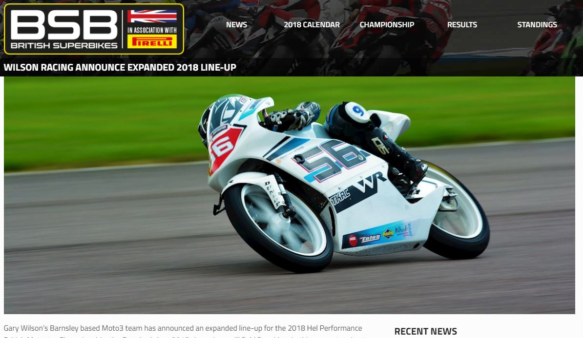 Wilson Racing BSB 2018