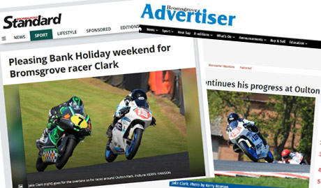 2018 May newspapers after Jake Clark Motostar Oulton Park