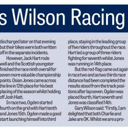 Wilson Racing Derbushire Times