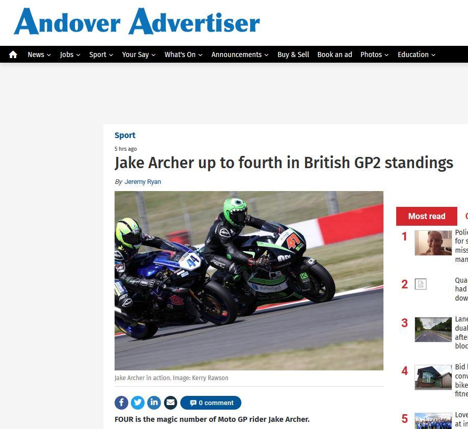 Jake Archer Andover Advertiser 30_05_2019