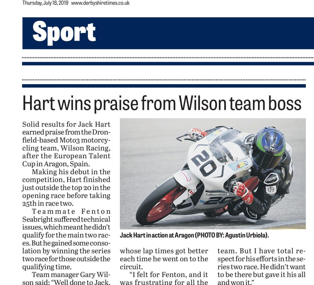 Wilson Racing ETC Aragon