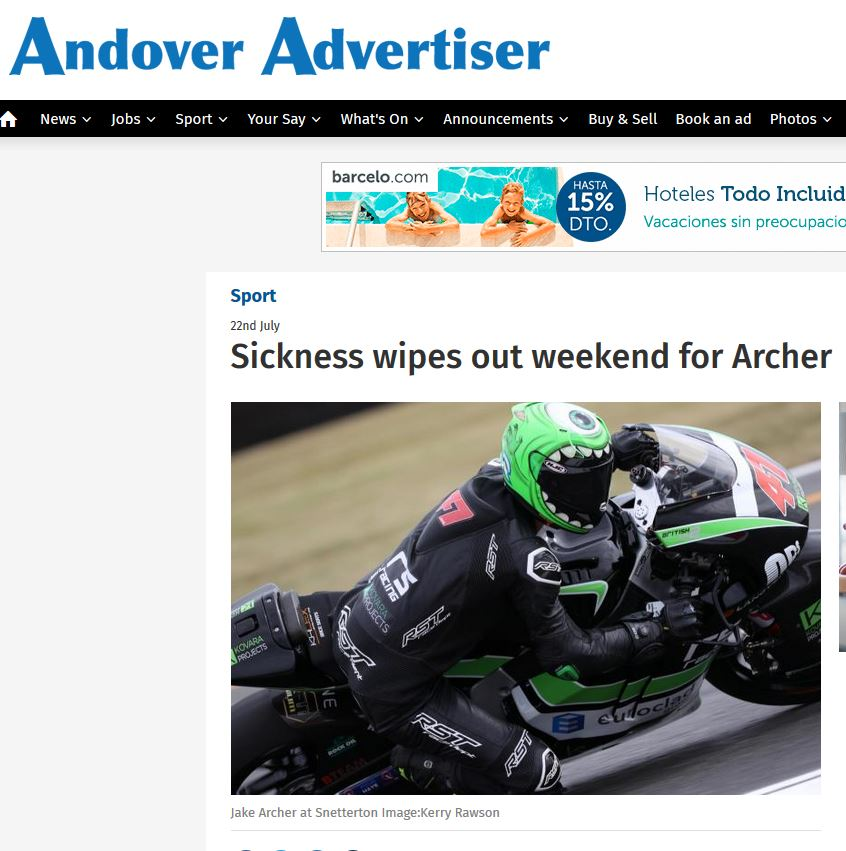 22 July 2019 Jake Archer Andover Advertiser