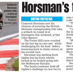 Cameron Horsman 11 October 2019 SLP Mercury