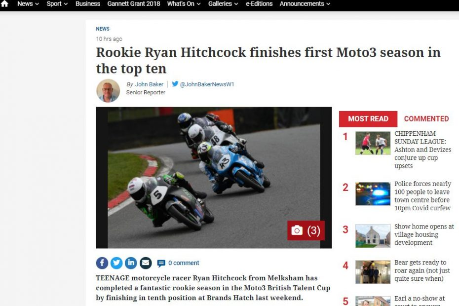 Ryan Hitchcock Wiltshire Times October 2020
